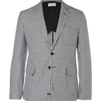 Maison Kitsuné - Slim-Fit Checked Cotton Suit Jacket | MR PORTER