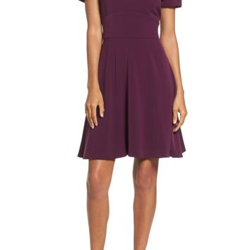 Tahari Crepe Fit & Flare Dress (Regular & Petite) | Nordstrom