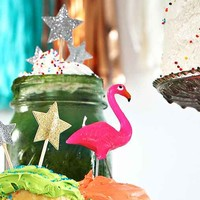 Flamingo Cake Candles - Pink One