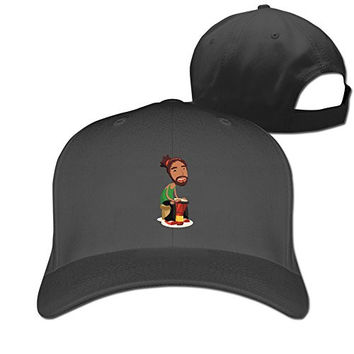 RTYUUIO Unisex Traditional African-American Drumming Dance Trucker Cap Black One Size