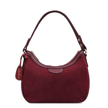 Hobo Bag : Suede Hobo Bag