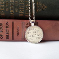 Harper Lee jewelry, To Kill a Mockingbird jewelry, gift idea for reader, holiday gift list, teacher gift, book club gift, social justice