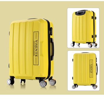 Universal wheels luggage travel bag picture14 20 24 28 password box large capacity trolley luggage brake wheel hard suitcase
