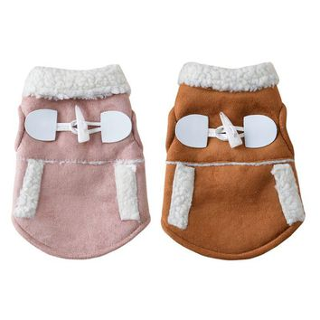 1PCS Winter Clothes Coat Pet Dog Apparel Puppy Warm Motorcycle Vest Costume for Small Dog Chihuahua Abrigo