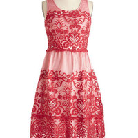 Vintage Inspired Long Sleeveless A-line I Prefer Your Loveliness Dress by ModCloth