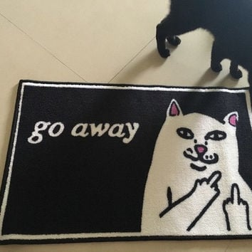 RIPNDIP Lord Nermal Go Away Doormat Rug