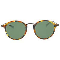 Ray Ban Round Fleck Green Classic G-15 Sunglasses RB2447 1157 49