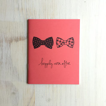 Notebook: Bow Tie, Gay Wedding, Coral, Gay, Queer, Love, Marriage, Medium Notebook, Love, Wedding Favor, Journal, Unique, Gift, II23/320/300