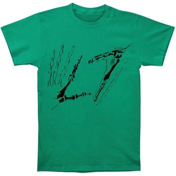 L7 Men's  Hands Green Tee T-shirt Green