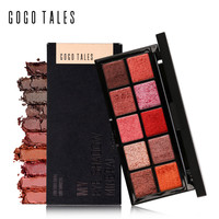 GOGO TALES Professional Makeup 10 Warm Colors Matte Eyeshadow Palette Nautral Mineral Nude Eye Shadow Earth Palette Maquiagem
