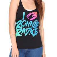 Falling In Reverse I (Heart) Ronnie Girls Tank Top