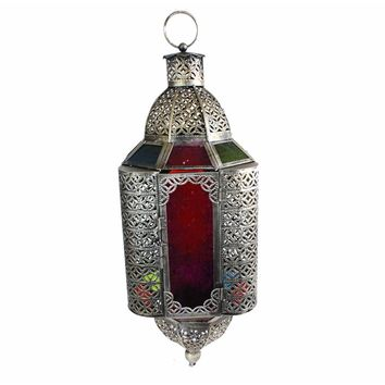 Bold Antique Metal Lantern ,Silver By Benzara