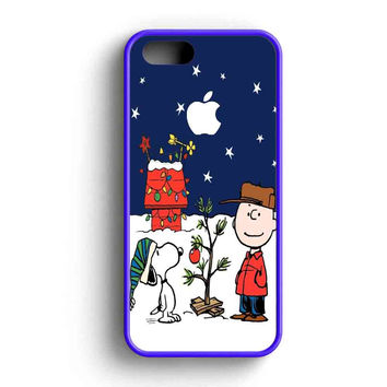 Snoopy And Charlie Brown Christmas Lights Apple iPhone 5 Case iPhone 5s Case iPhone 5c Case