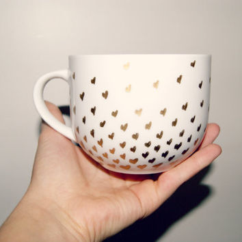 Gold Heart Confetti Mug/ Fully Customizable/Valentines Day/Love/Just Because