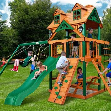 Gorilla Playsets Chateau Malibu Wooden Swing Set