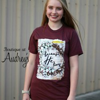 His Word Because He Lives Bible Journaling Tee