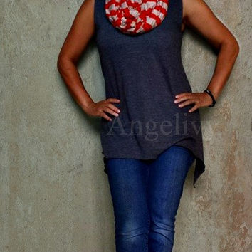 New Item- Fall colors Nursing cover, Nursing Scarf, Nursing Poncho, Car Seat Cover By Angelivy (Red and Tan)