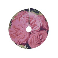 "Susan Sanders ""Blush Pink Blooming Roses"" Floral Photography Tree Skirt"