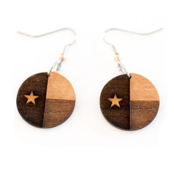 Texas Flag Dangle Earrings