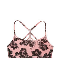 Cotton Lounge Strappy Bralette - PINK - Victoria's Secret