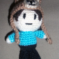 Mini Danisnotonfire inspired doll with llama hat