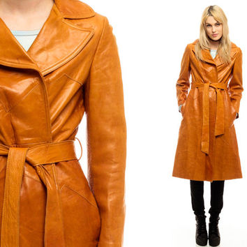 Best Leather Trench Coat Belt Products on Wanelo