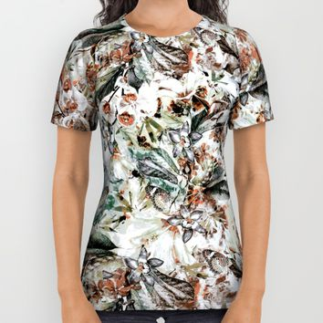 Orchidaceae All Over Print Shirt by VS Fashion Studio