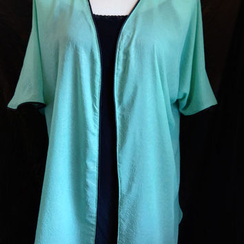 Mint Green Kimono Cardigan, Mid Length Kimono Jacket, Women and Girls Free Size, Gift for her, Weddings, Easter, Beach Coverup, Vacation.