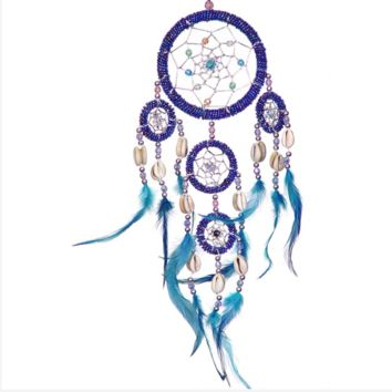 Bright Blue Colorful Dreamcatcher