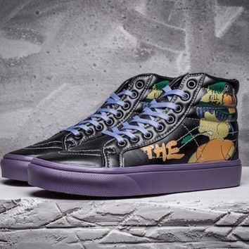 CREYUP0 vans x peanuts sk8 hi simpsons leather flats ankle boots sneakers sport shoes