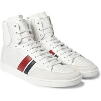 Saint Laurent - SL04H Leather and Mesh High Top Sneakers | MR PORTER