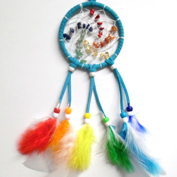 Turquoise Chakra Swirl Car Dream Catcher