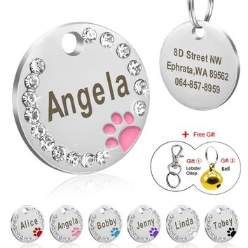 8679c561db45 Dog Tag Personalized Pet Puppy Cat ID Tag Engraved Custom Dog Co