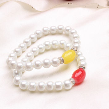 Gift Great Deal New Arrival Stylish Shiny Hot Sale Awesome Korean Pearls Bangle Summer Bracelet [6573081543]