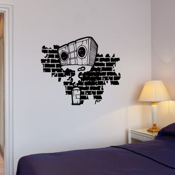 Wall Decal Graffiti Street Art Cassette Recorder Boombox Vinyl Sticker (ed939)