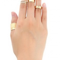 Metal Midi Ring Set | MakeMeChic.com