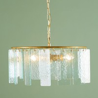 Hammered Glass Chandelier