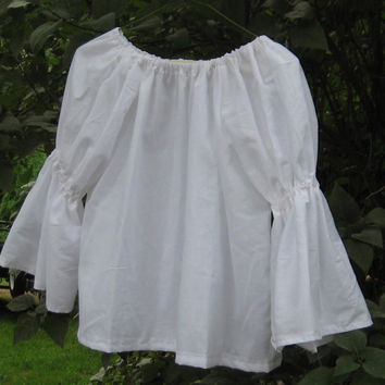 Girls Peasant Poet Blouse shirt top Prairie