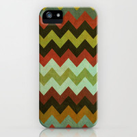 dirty chevron iPhone & iPod Case by Sharon Turner