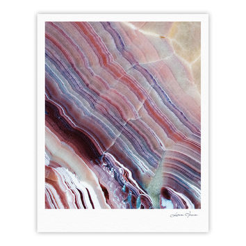 "KESS Original ""Sunrise Agate"" Pink Purple Fine Art Gallery Print"