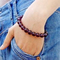 BRACELETS for Women 10 mm Bracelet AMETHIST Natural Women Bracelet Chakra Energy Beaded Amethist Bracelet Amethist Bead