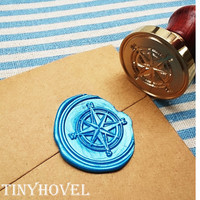 20% OFF - 1 pc Compass Gold Plated - Handmade retro gifts Wax Seals Stamp Wax Seal(WS08)