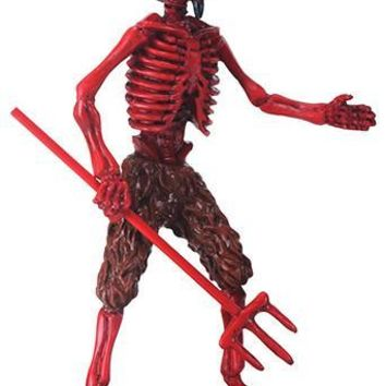 Red Devil Skeleton El Diablo Diabilito Day of Dead Statue 6.25H