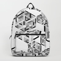 Hexagon monochrome Backpack by edrawings38