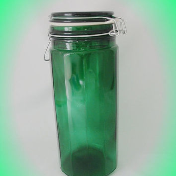 20% OFF SUMMER SALE Retro Tall Glass Jar Canister