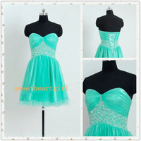 Mint Short Prom Dress Homecoming Dress