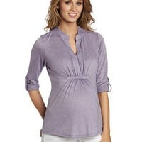 Everly Grey Women`s Emma Top with Mandarine Collar