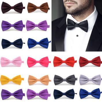 Sale 1PC Gentleman Men Classic Satin Bowtie Necktie For Wedding Party Adjustable Bow tie knot