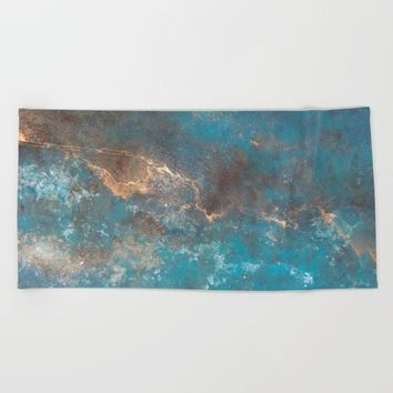 Modern Abstract Beach Towel by Salome