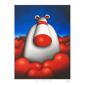Love is All Around - Limited Edition Giclee on Hahnemuhle Paper by Peter Smith